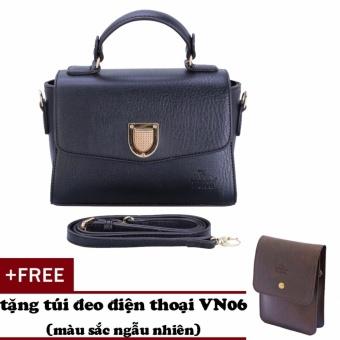 Túi đeo chéo nữ đa năng LATA HN32 (Đen)+ Tặng ví vn06