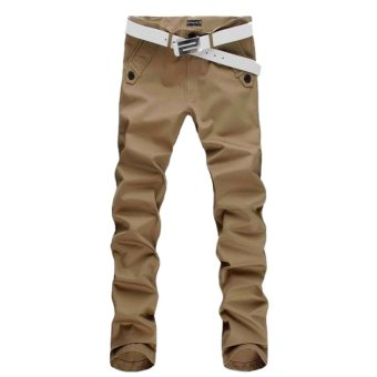 Men skinny Casual pencil jean Sportwear Leisure Pants Slacks Trousers 34 - Intl - intl