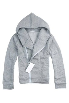 Bluelans Men's British Style Casual Personality Stayed Hooded Jacket Coat Light Grey (Intl)