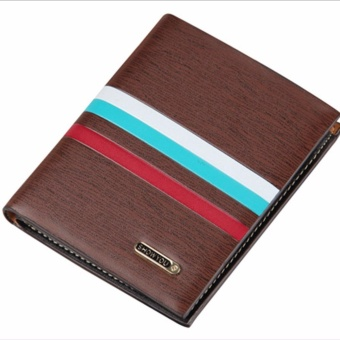 Men Luxury Stylish Leather Wallet Pocket Holder Bifold Purse(Brown 02#) - intl