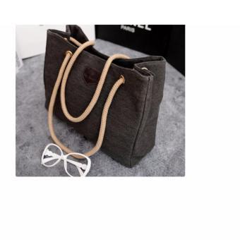 Túi tote nữ đơn giản thanh lịch (đen)