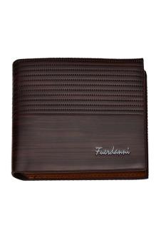 Men PU Leather Short Wallet Bifold Money Credit Card Photo Storage Bag Holder Organizer Billfold Coffee - intl