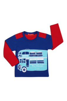 Áo thun bé trai tay dài V.T.A.Kids BT41113B-XD (Xanh phối đỏ)