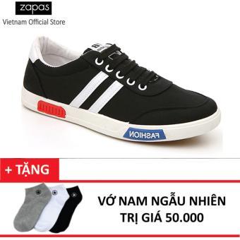 Giày Sneaker Thể Thao Nam Zapas GS017 (Đen) + Tặng Vớ Nam