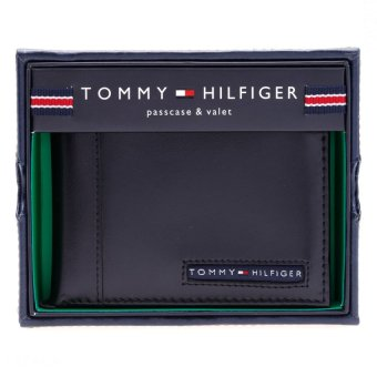 Ví da Tommy Hilfiger Men's Cambridge Passcase (Đen)