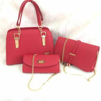Bộ 3 túi xách Polo sang trọng (Đỏ)