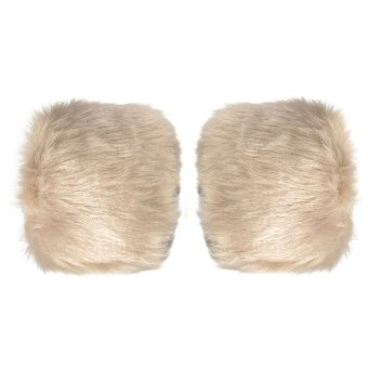 Brand New Faux Fur Oversleeve Wrist Arm Warmer Cuff Cover Fuzzy Furry Wristband Fashion Fur color New - intl