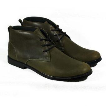 Boots cổ lửng cột dây Tathanium Footwear TFOLO8802 (Xanh rêu)