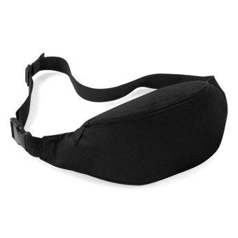 Unisex Bag Travel Handy Hiking Sport Fanny Pack Waist Belt Zip Pouch Black - intl