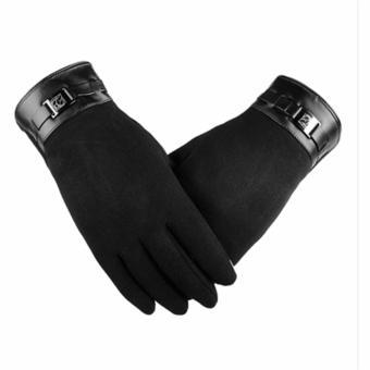 Găng tay nam cảm ứng thời trang (Đen)