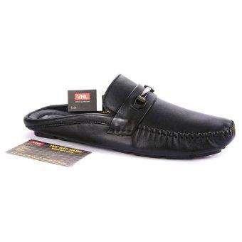 Giày bít sabo nam da thật cao cấp chính hãng Da Giày Việt Nam VNLMO7A75D ( Đen )
