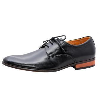 Giày nam da bò thật cao cấp Đen ESM16