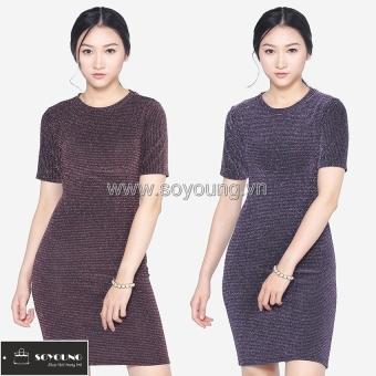 Bộ 2 Váy Midi Body Nhũ Dáng Dài Cộc Tay SoYoung DRESS 0068C A D