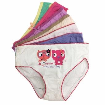 Bộ 7 quần lót - quần chíp bé gái cotton Thái Lan-MS05