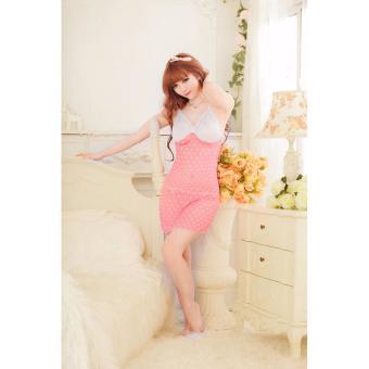Váy Ngủ Gợi Cảm Nhất Voan Love MS509 - Hồng