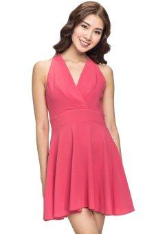 Đầm cổ chữ V Love (Hồng)