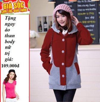 Áo Khoác nữ kitty (Đỏ) + Tặng áo thun body nữ