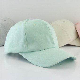 Blank Plain Snapback Hat Unisex Men Women Hip-Hop adjustable Suede Baseball Cap - intl