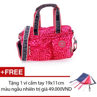 Túi xách thời trang đa năng (hồng) + Tặng 1 ví cầm tay 19x11cm màu ngẫu nhiên