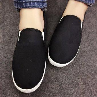 Giày vải slip on trơn Cỏ Boutique S171 (Đen)