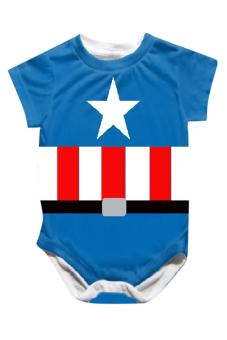 Bộ áo liền quần liền hình thú ngộ nghĩnh Family Shop TEH37 (Xanh)