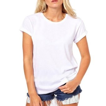 Hollow Back Cut ONeck Blouse T White - Intl