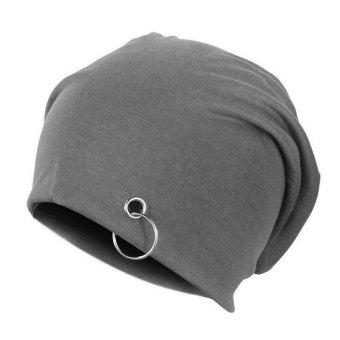 Soft Thin Women Men Unisex Double Deck Cotton Lycra Blend Beanie Hats - Intl