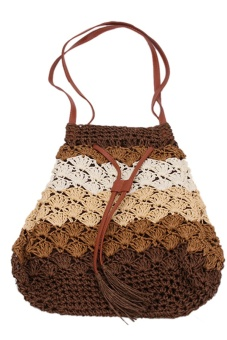 LALANG Straw Shoulder Bag (Coffee)