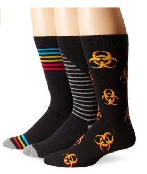 Bộ 3 đôi tất (vớ) nam K. Bell Socks Men's 3-Pack Tri-Colored Stripe Crew Socks (Mỹ)