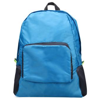 Folding Shoulder Bag Female Outdoor Backpack Blue