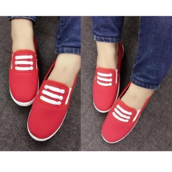 Giày Slip On 3 dây nữ CS1404 (Đỏ)