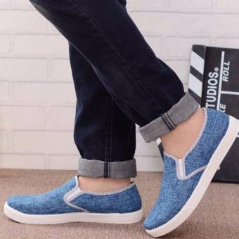 Giày lười vải nam Rozalo RM49102X - Xanh
