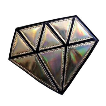 Women Hologram Diamond Shape Laser Holographic Crossbody Chain Messenger Bags C - intl