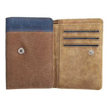 Vintage Men's Bifold Leather Wallet ID Credit Card Holder Billfold Purse Clutch Yellow - Intl