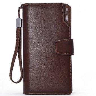 Men Long Wallet Zipper Credit Cards Mobile Phone Holder COFFEE - Intl