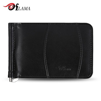 FLAMA Simple Classical Style Cash Clip Card Holders Wallet For Men(Black) - intl