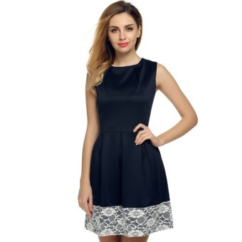 Cyber ACEVOG Women Sleeveless Tunic Casual Party Evening Cocktail Dress - Intl