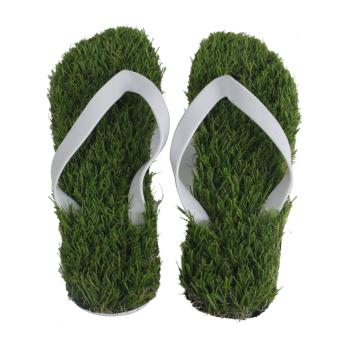 Summer Cool Slippers Artificial Lawn Flats Flip Flops Sandals Shoes Size 41 - Intl