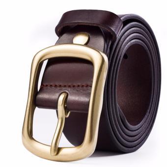 Dây lưng nam da bò Ý cao cấp nhập khẩu ROT013 (Cà phê) - 3712164