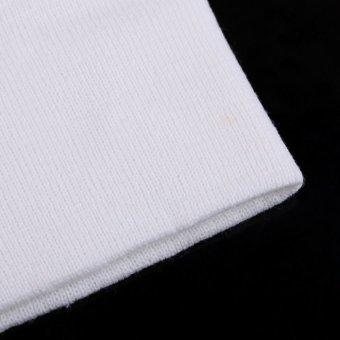 Unisex Beanie Women and Men's Ski Warm Knit Wool Cap Hip-Hop Hat White - intl
