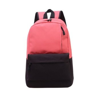 Unisex Vintage Canvas Backpack Rucksack School Satchel Hiking Bag Bookbag Red - intl