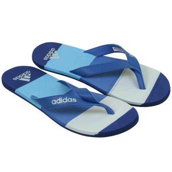 Dép xỏ ngón nam Adidas EEZAY STRIPED BA8808 (Xanh)
