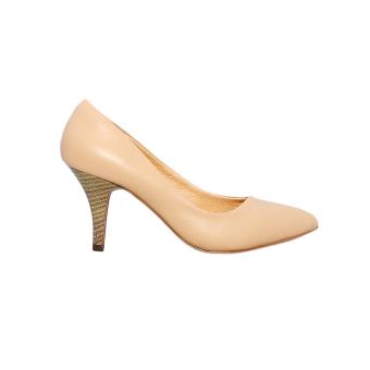Giày nữ cao gót 8cm da bò thật ESW29 Cung cấp bởi ELMI (Be)