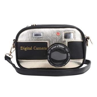 Cyber Camera Shape PU Leather Shoulder Bag ( Black ) - intl