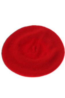 Lalang Girl Kids Baby Warm Wool Beret Beanie Hat Cap Winter (Red)