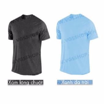 Bộ 2 áo thun LAKA A1517 (Xám + Xanh Da Trời)