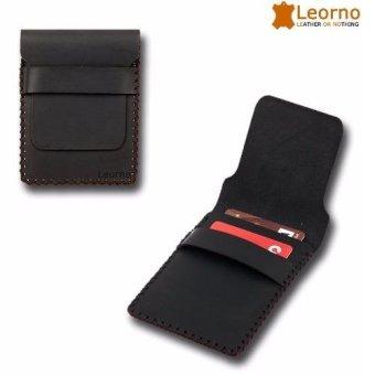 Ví da nam loại siêu nhỏ handmade VD07 - Leorno (Đen)