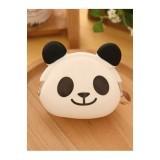 Mini Purse Soft Surface Fastener Female Cartoon Silicone Coin Bag Panda - Intl