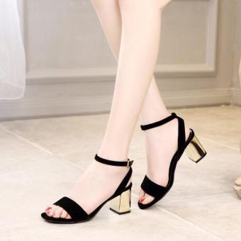 Giày Sandal Cao Gót Nữ Gót Vàng - LN1261