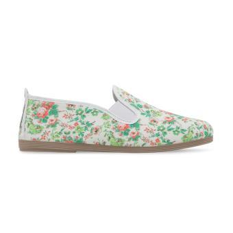 Giày Lười Flossy Lleida (Trắng Họa Tiết Hoa)